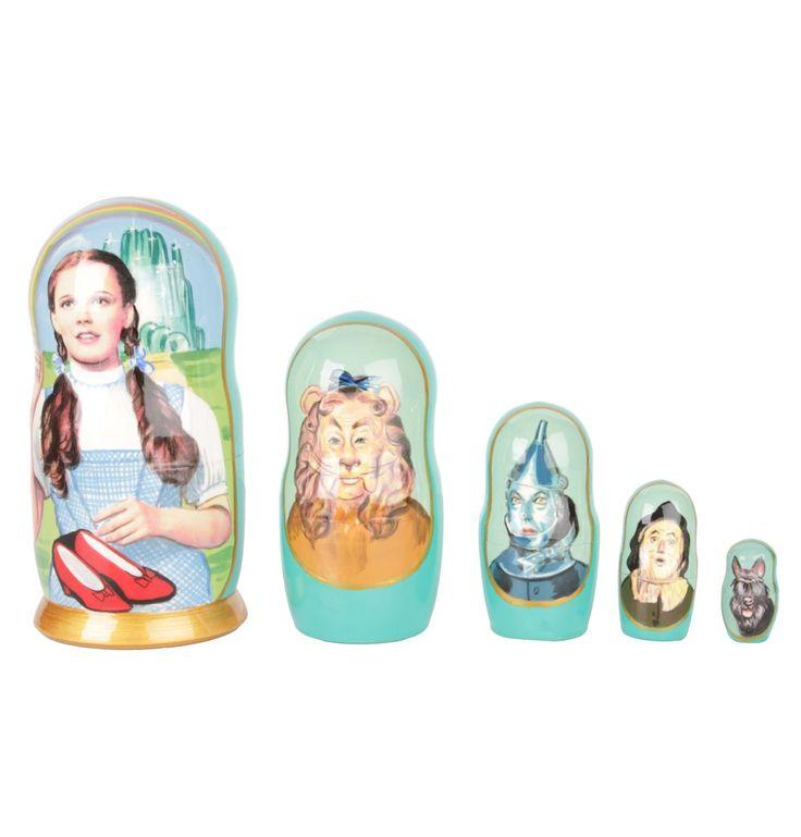 The Wizard of Oz Babushka Nesting Dolls - Set of 5 - Matt Blatt