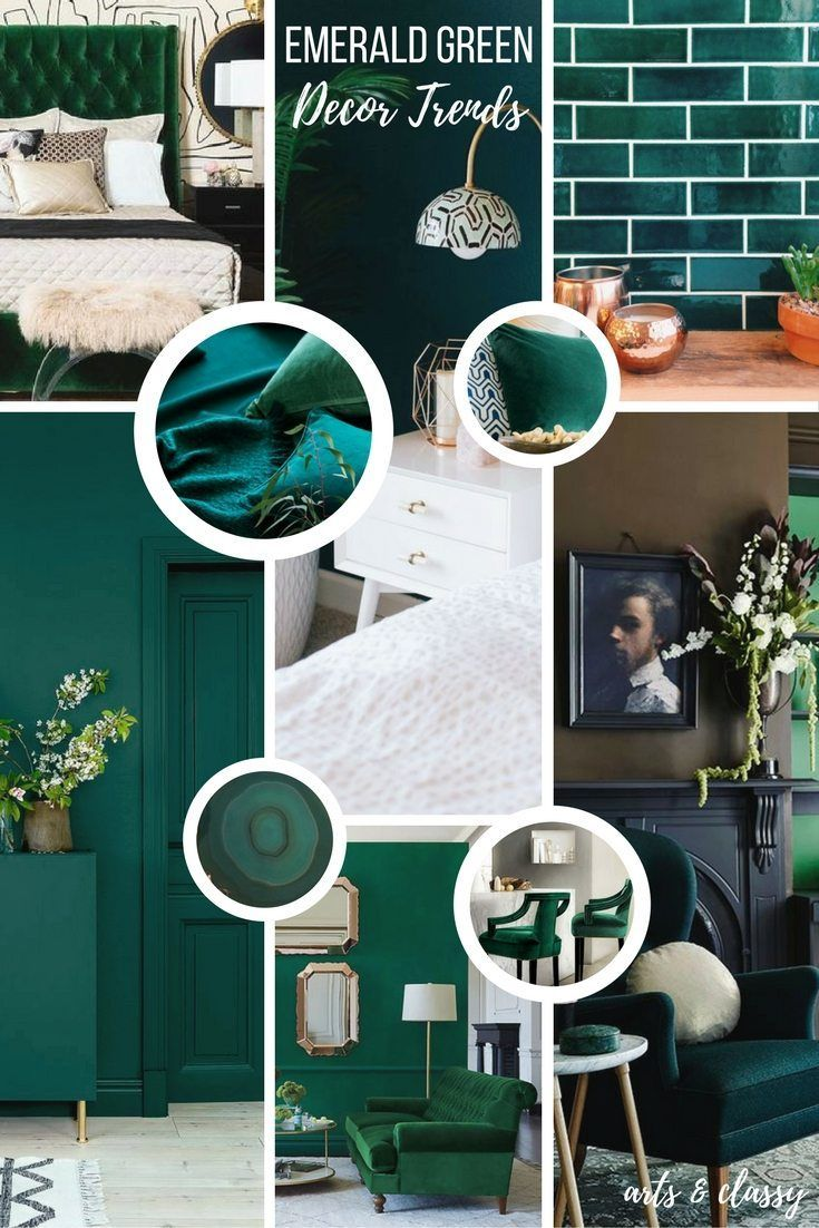 Emerald Green Interior Decor Trends Inspiration