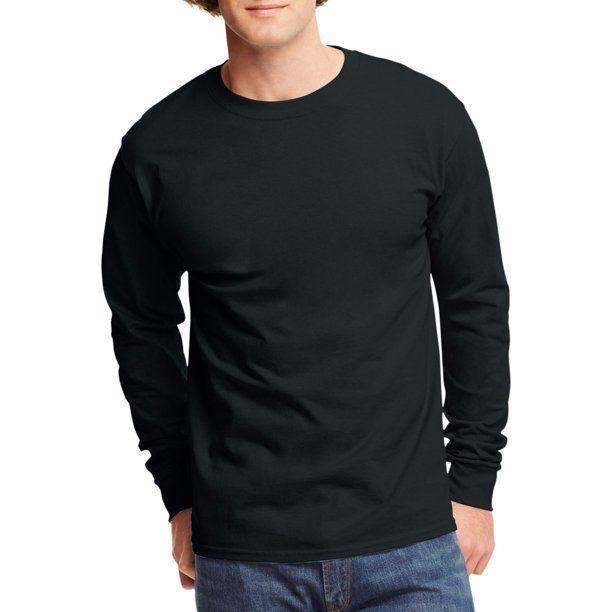 Hanes Men/'s Tagless ComfortSoft Ribbed Knit Cuffs Long Sleeve T-Shirt 100/%Cotton