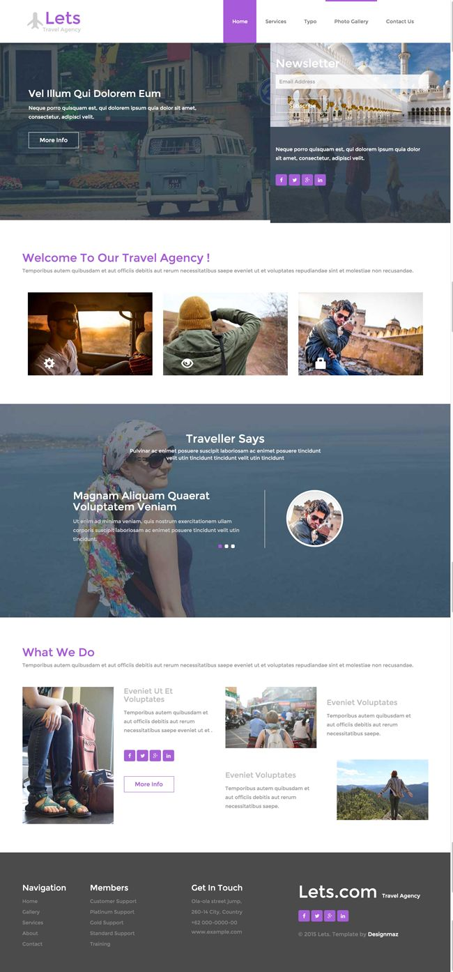 Lets-Free-Responsive-HTML5-CSS3-Travel-Template-Preview