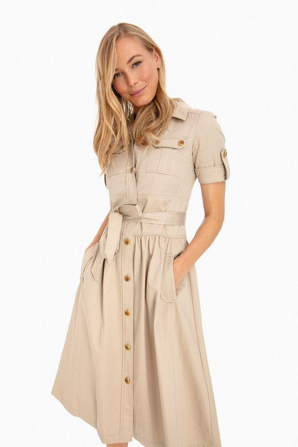 f2d3ef76b25 Tory Burch Cotton Safari Dress in 2019