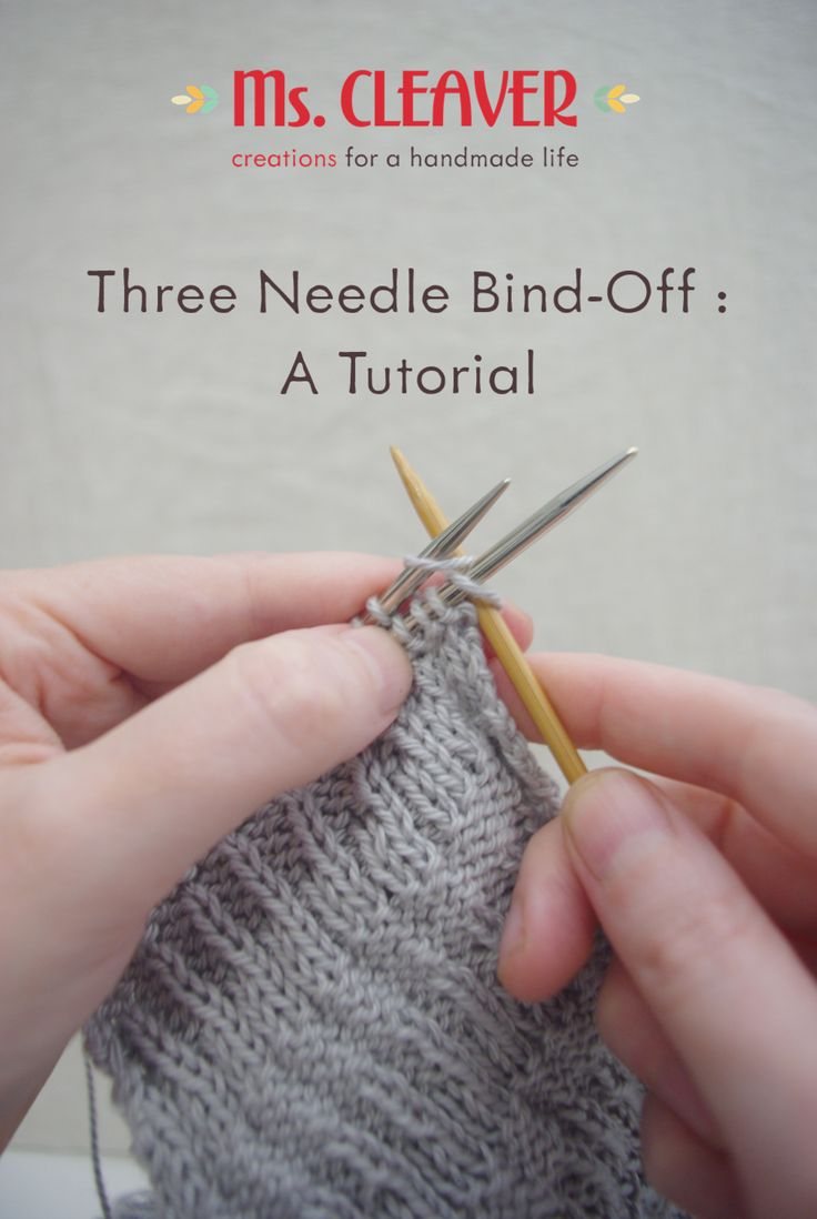 Three Needle Bind Off Tutorial - Ms .Cleaver Creations  knitting tutorial | bind off | three-needle bind off | knitting tips