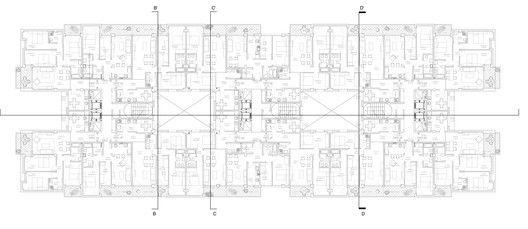 Edificio para 103 viviendas garajes y trasteros VPA,Planta