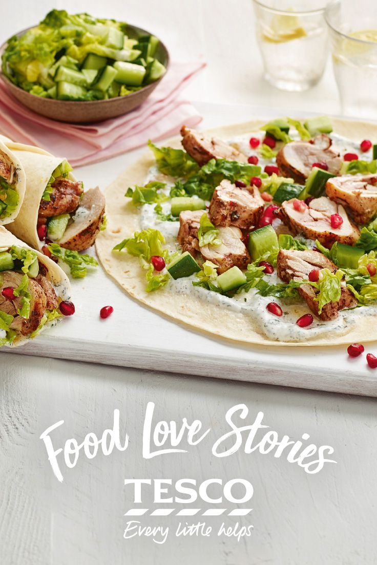 Try this chicken shawarmas recipe from our Food Love Story. Perfect for an Easter BBQ, even if you have to cook it through the lounge window like 'Ed'! | Tesco