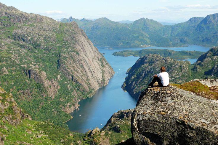 Trollfjorden from above (Photo: Bjørn Eide)