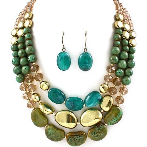 Vera Green Emerald Necklace