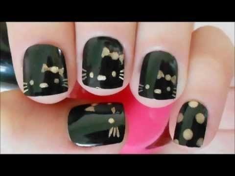 Hello Kitty Nail Tutorial