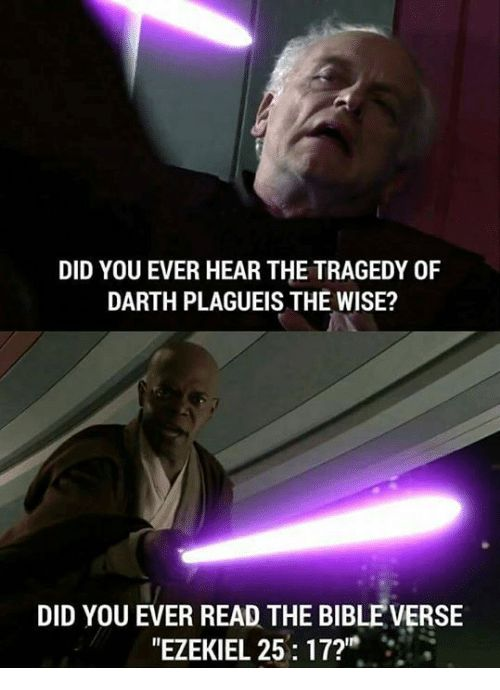 Image result for have you ever heard the tragedy of darth plagueis the wise quote