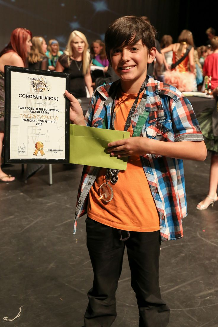 Henno William - Winner of Talent Africa (junior) 2014