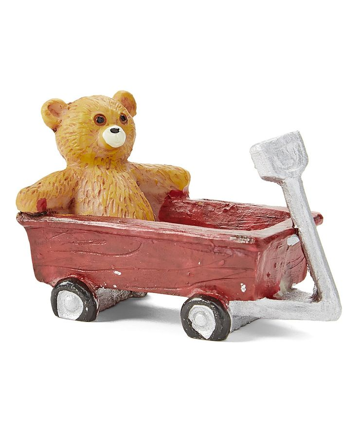 This Red Play Wagon & Bear Garden Figurine by Giftcraft is perfect! #zulilyfinds