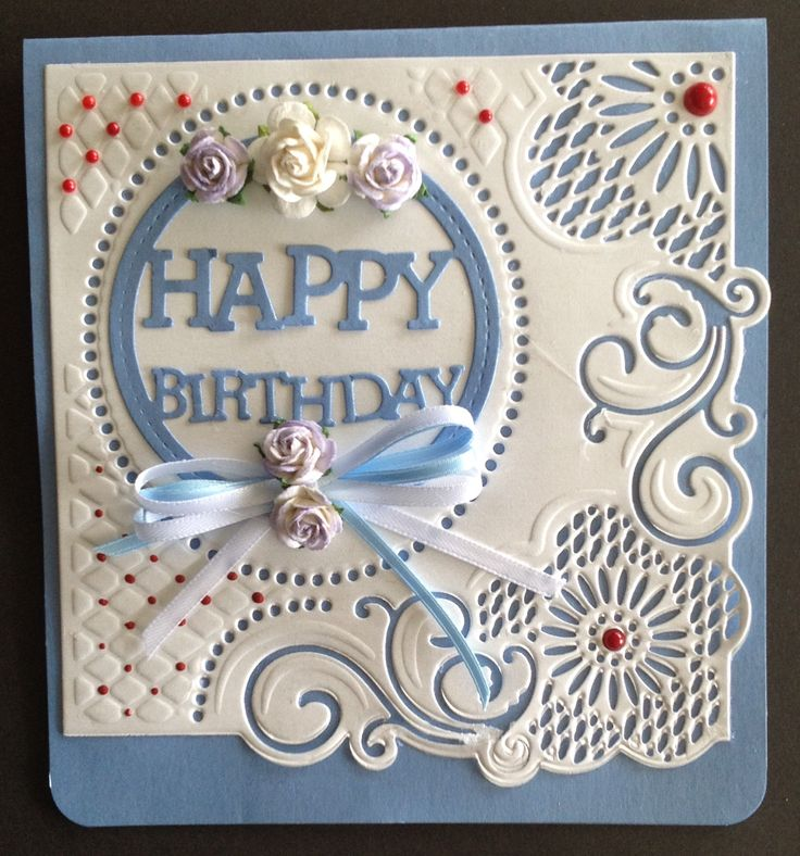 Made with Jeanine's embossing folder