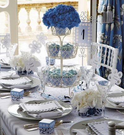 #centerpiece #wedding #blue Kinda cute