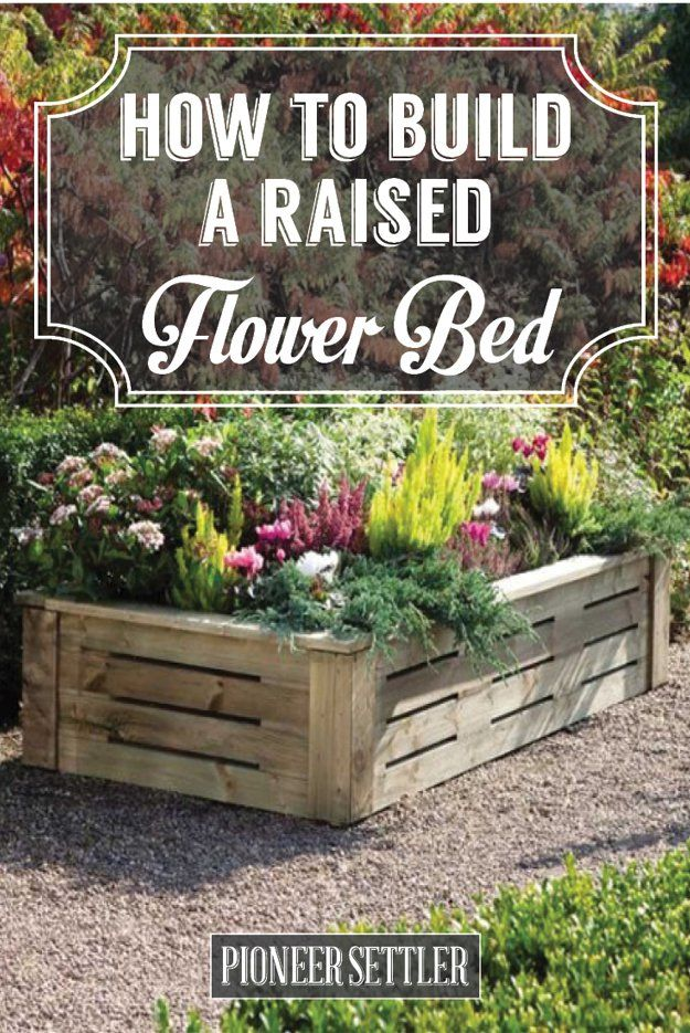 how to build a raised flower bed garden