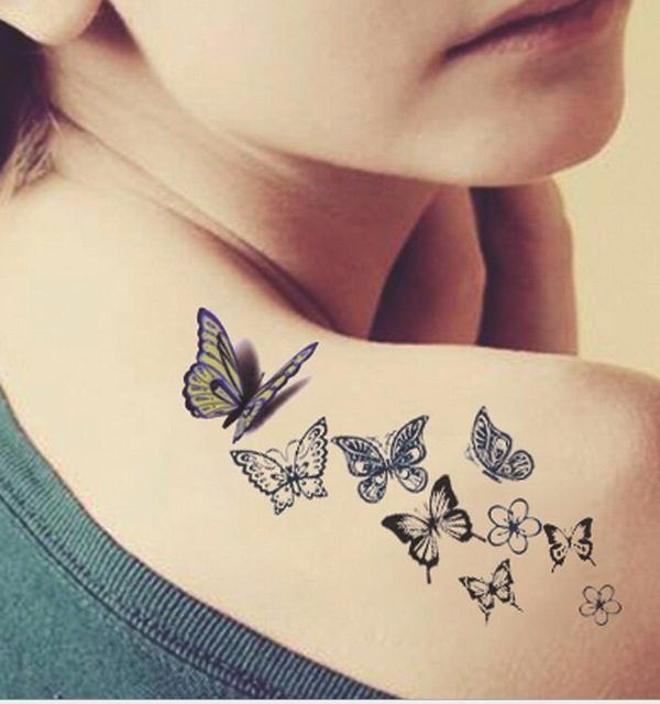 Female Butterflies Tattoo Design Butterfly Tattoos For Females Butterfly Tattoos Crayon Butterfly Tattoo Butterfly Tattoo Designs Tattoos