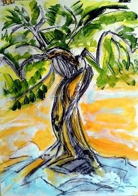 SiLa Art: OLIVE TREE - Croatian modern painter Lidija Ivanek (SiLa)