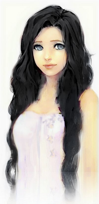 """Play"" with xiu xiu meitu. Original picutre: https://www.pinterest.com/pin/559572322428221522/ Anime girl, Draw, Black hair, cute"