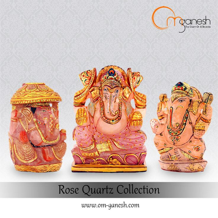 Idols of Lord Ganesha carved from exquisite Rose Quartz is a symbol of universal love, which helps restore trust and love in relationships.