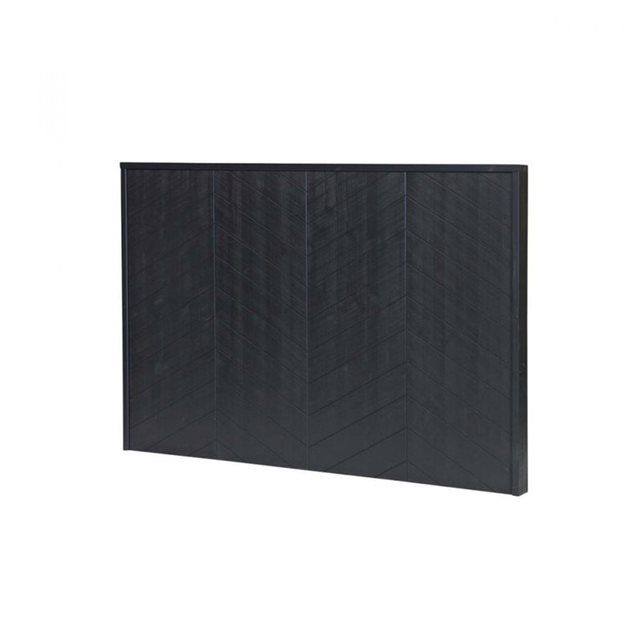 DRAWER - Tête de lit en bois noir mat Chevron | La Redoute