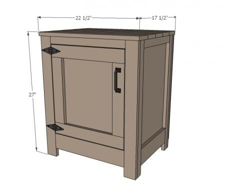I want to make this!  DIY Furniture Plan from Ana-White.com  How to build end tables or nightstands. Free simple step by step DIY plans to build nightstands inspired by Restoration Hardware Kenwood Nightstand.