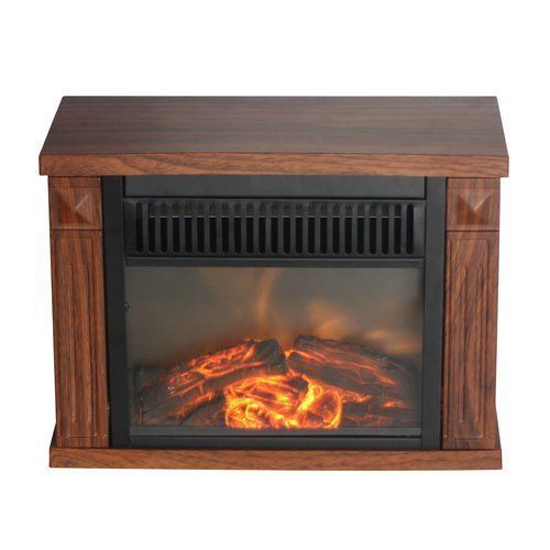 Electric Fireplace Space Heater Portable Heater Table Mini Office Warmer 1200W #ComfortGlow
