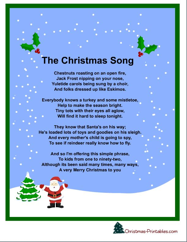 The Christmas Song Lyrics - Google Search