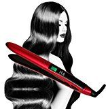The ISA Professional Titanium Flat Ironis another solid option for people with thicker hair. With a pointed, graceful design and simple to learn Neon LCD display, the ISA Professional is a great choice for people who don't wish to spend a lot of time straightening their hair.
