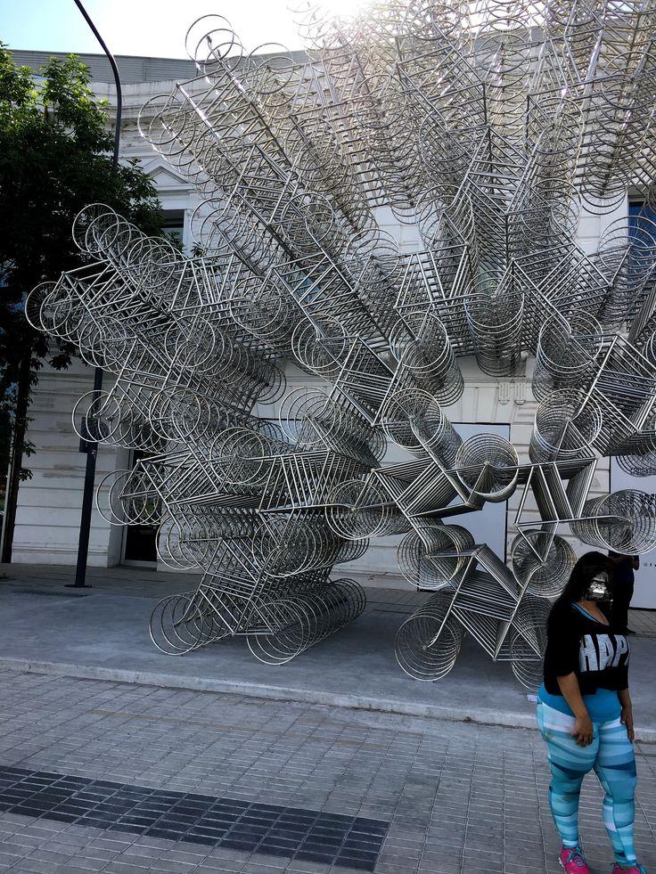 escultura con bicicletas. buenos aires, argentina