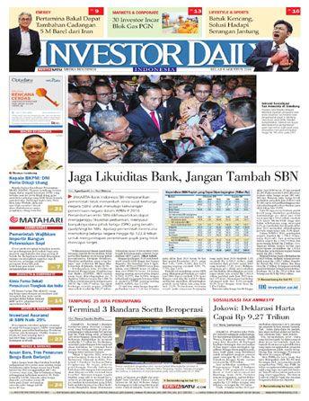 Investor Daily - 09 Agustus 2016 | Jaga Likuiditas Bank, Jangan Tambah SBN | Investor Daily