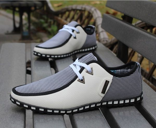 Casual Canvas Men's Sneaker Shoes Ultralight Flattie Increase Shoes