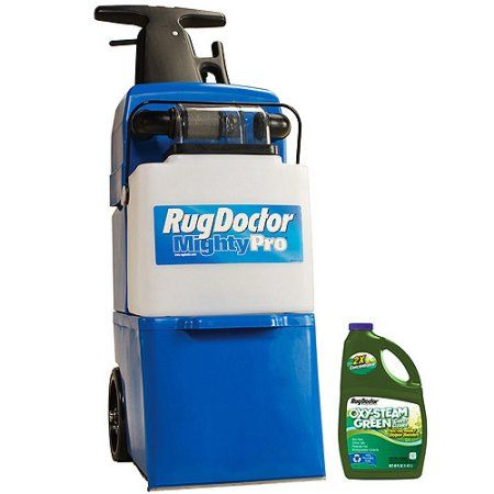 Rug Doctor Mighty Pro Carpet Steam Vacuum Cleaner with Bonus 40 oz. Oxy Steam Green Solution