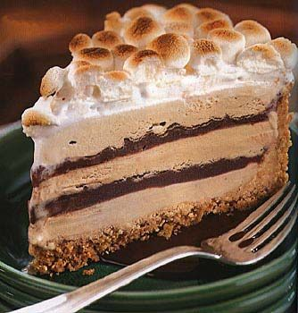 S'mores Coffee and Fudge Ice Cream Cake, because who doesn't love ice cream and graham cracker crumbs?
