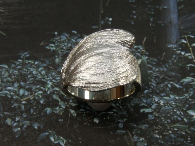 * ringen   oogst-sieraden * Ring * Zilveren hartvormig blad * 265 euro *