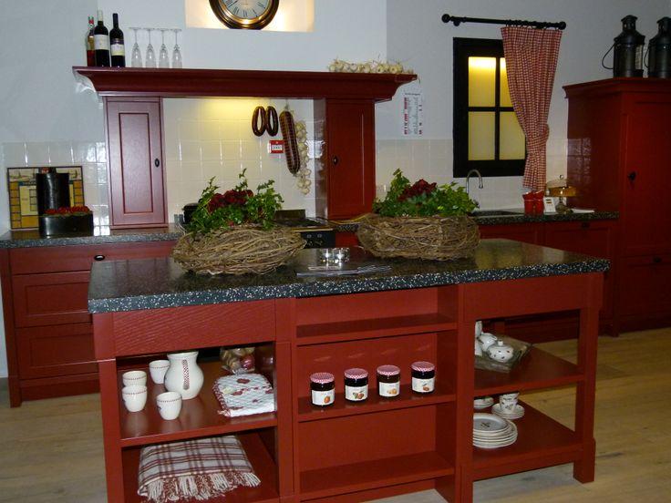 Keuken Bordeaux Rood : voor een knusse kookgelegenheid gezellige keukens! Pinterest