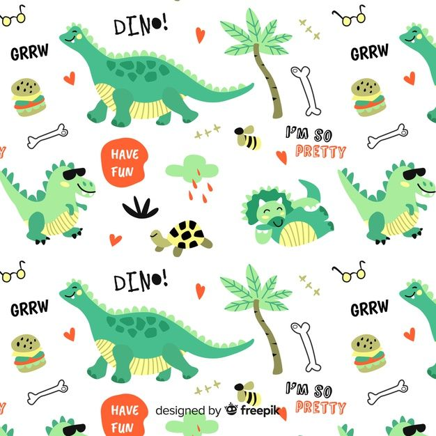 Colorful Doodle Dinosaurs And Words Pattern Cute Patterns Wallpaper Abstract Paper Colorful Backgrounds