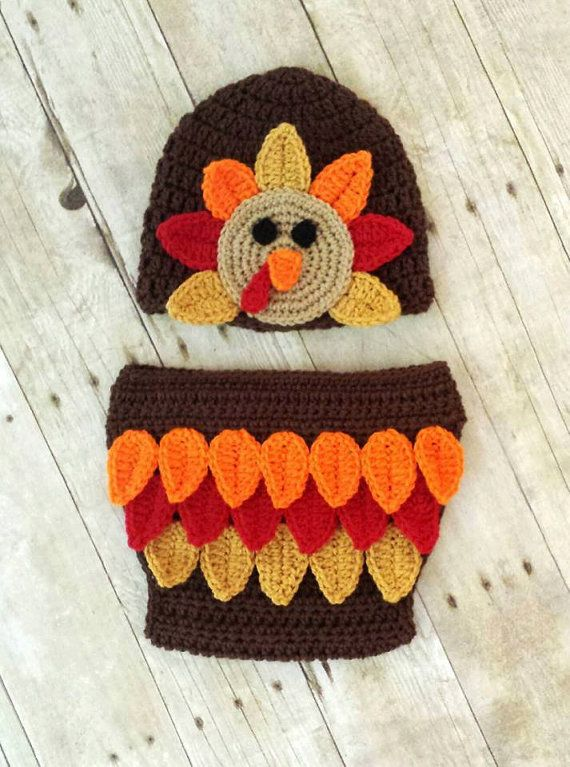 http://www.etsy.com/listing/161633215/crochet-baby-thanksgiving-turkey-hat-and