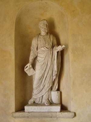 Krypteia (Cryptia) - Plutarch's Lycurgus on the Krypteia: Statue of Lycurgus at The Temple of Ancient Virtue Stowe