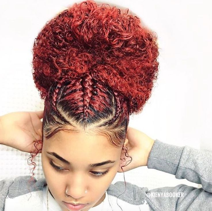 Beautiful bun @kienyabooker - https://blackhairinformation.com/hairstyle-gallery/beautiful-bun-kienyabooker/