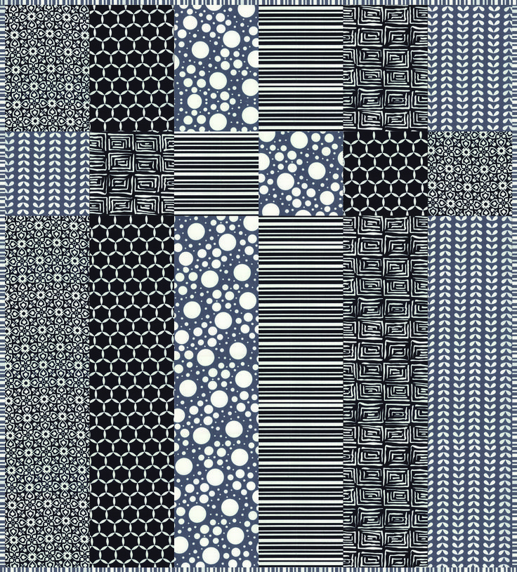 """""""Little Black Quilt"""" FREE quilt pattern by Barb and Mary at """"Me and My Sister"""" designs blog and store  Six 6.5"""" x 40"""" strips"""