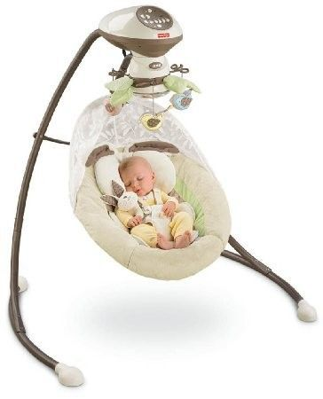 Top 5 Baby Bouncers and Jumpers. With this swing, you can choose two swing motions – side to side or head to toe. Plus you have 6 swing speeds and 16 tunes, nature sounds and motion. There is a mirrored globe overhead where baby can see himself.