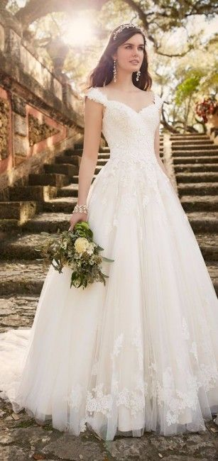 Vestido de novia clásico y elegante