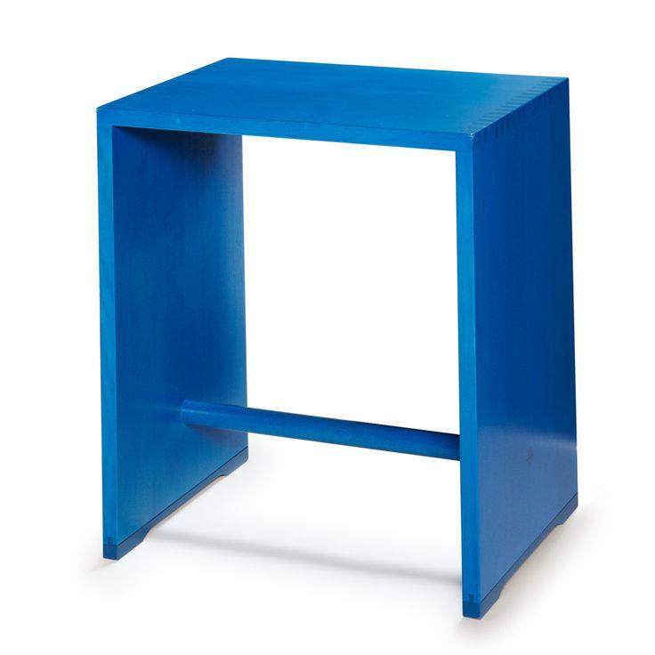 wohnbedarf projekt ag wb form - Ulmer Hocker, dunkelblau Dunkelblau T:29 H:44 B:39