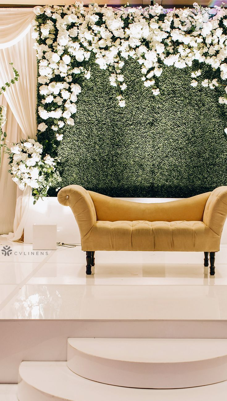 bridal shower backdrop flower wall