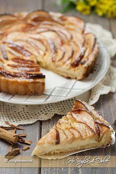 Crostata di mele e crema pasticcera ricetta facile, veloce
