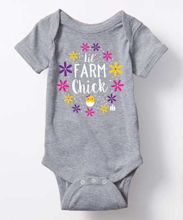 Another great find on #zulily! Athletic Heather 'Lil Farm Chick' Bodysuit - Infant #zulilyfinds