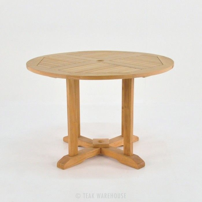 Round Teak Pedestal Dining Tables-0