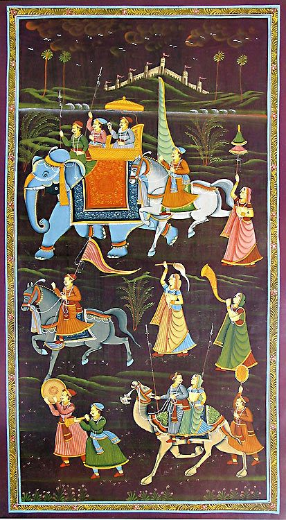 Rajput Procession (Reprint on Paper - Unframed))