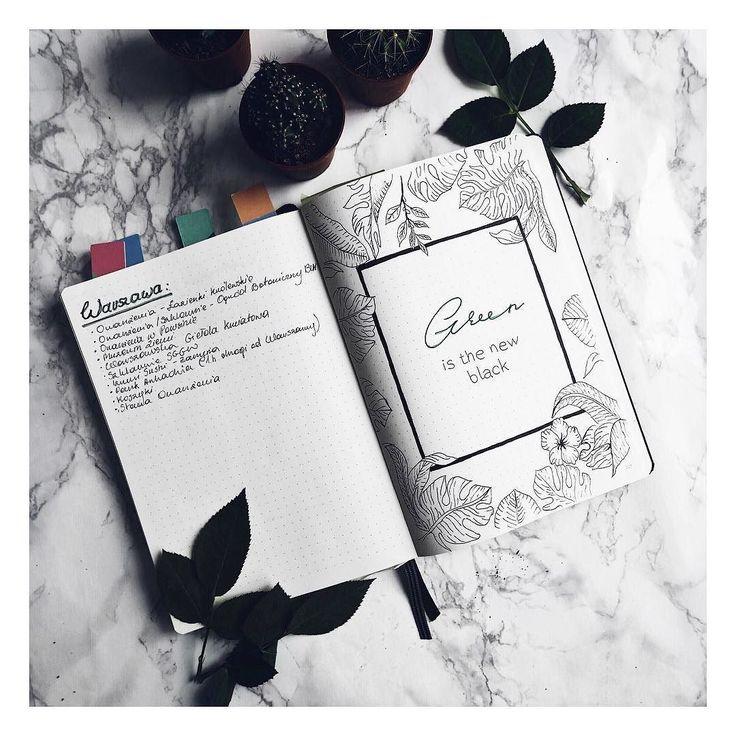 'Green is the new black' - nowe kaktusy z @flyingtigerpl pasują mi do wiosennej kolekcji  _______ #bulletjournalcollection #bujoinspire #Bujo #bulletjournalpolska #bujojunkies #bulletjournal #bujolove #showmeyourplanner #bulletjournaling #green #plants #rosliny #rośliny #flyingtiger #marble #cacti #cactilover