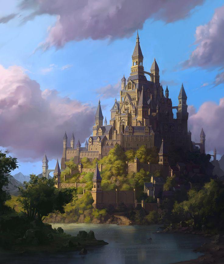 The castle, Whihoon Lee (whinbek) on ArtStation at https://www.artstation.com/artwork/the-castle-58934a64-f41c-41f1-b8a6-74ca73dd69cf