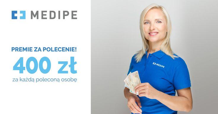 Nowa, wyższa stawka za polecenie Medipe opiekunce, która wyjedzie z nami do pracy! Teraz możesz zyskać dodatkowe 400 zł brutto do wynagrodzenia. Szczegóły na www.medipe.com