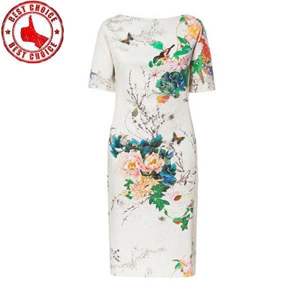 Weiße romantische Blume druckt Kleid